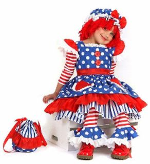 Girls Raggedy Ann Halloween Costume