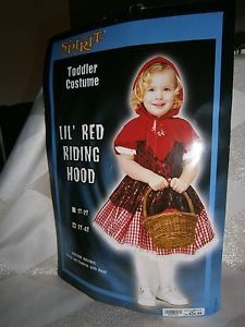 Halloween Costume Child Little Red Riding Hood Toddler 2T to 4T