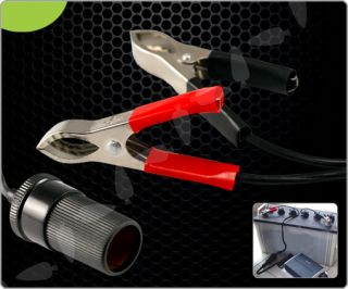12V Car Battery Terminal Clip on Cigarette Lighter Socket Power Adaptor E046