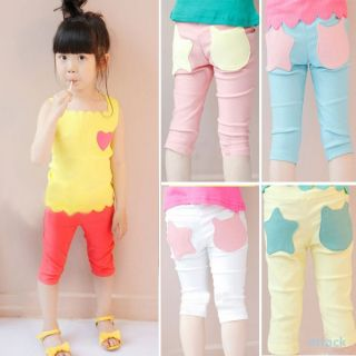 New Kids Costume Baby Girls Stars Pattern Pants Leggings Shorts Trousers 1 6Y