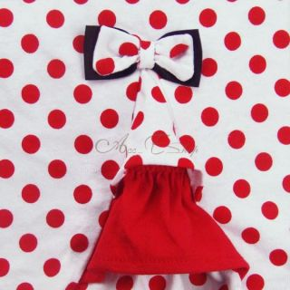 New Girl Minnie Mouse Costume Top Shirt Dress Skirt Summer Outfit Sets 4 7 Years