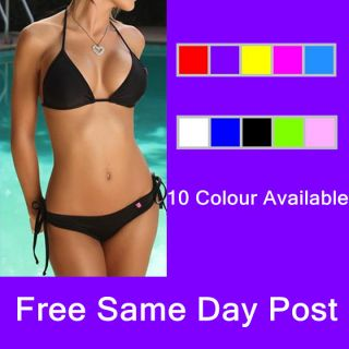 Sexy Halter Neck Bikini Swimwear Swimsuit Swimming Costume 10Colours Size 6 14