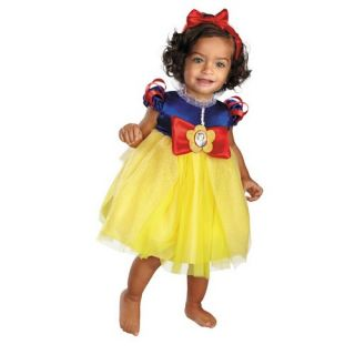 Snow White Infant Costume Dress with Character Cameo and Headband with Bow