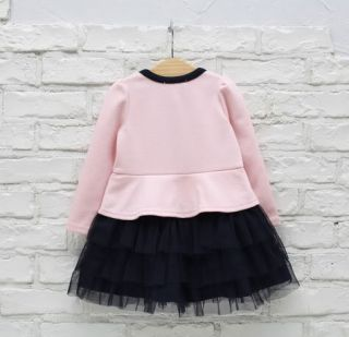 Kids Toddlers Cotton Girls Princess Long Sleeve Tutu Tulle Skirt Dress Sz3 8Y