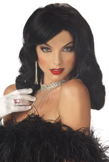 Hot Sexy Glamour Girl Halloween Costume Wig Black 70429