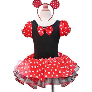 Baby Minnie Mouse Polka Dots Party Dress Girls Costume Ballet Tutu Size 2T Gift