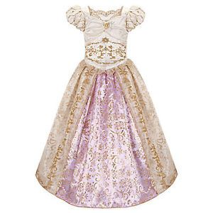 2T 3T Princess Rapunzel Tangled Costume Wedding Dress Gown Outfit