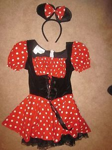 Minnie Mouse Petticoat Girls Kids Disney Mickey Halloween Costume