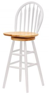"Winsome Solid Wood 30"" Windsor Swivel Stool Single RTA"