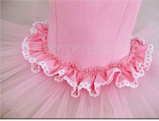 Kids Girls Party Dancing Leotard Ballet Sleeveless Age 3 8Y Tutu Skirt Dress