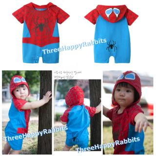 Baby Boy Halloween Spiderman Superman Batman Fancy Dress Costume Romper S025