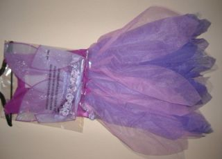 Girls Purple Rose Fairy Costume Dress Up Size SM 2T 4T Med 3 5 Wings Tulle