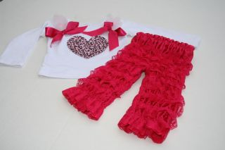 Baby Girl Boutique Clothing Valentine's Set Birthday Pageant Outfit Size18 24mo