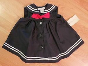 Sophie Rose Baby Girls' Sailor Dress Nautical Halloween Costume Navy 3 6M NWT