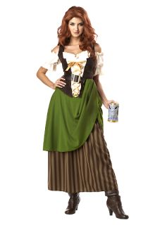 Small Adult Pin Up Halloween Costume Renaissance Tavern Maiden Oktoberfest Girl
