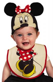 Infant Baby Girls Minnie Mouse Costume Hat Bib 0 6 Months