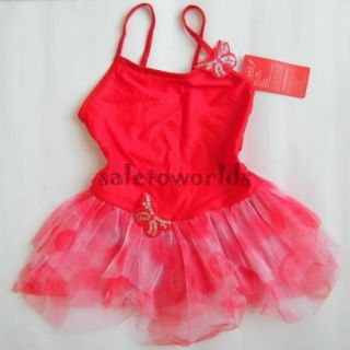 Freeshiping 3colour Girls Leotard Costume Ballet Tutu Dancewear Party Dress 3 8Y