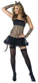 Leopard Print Sexy Wild Cat Adult Womens Costume Jungle Animal Party Halloween