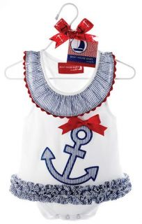 Baby Girl Sailor Suit Fancy Dress Outfit Dress Anchor Princess Costume Newborn