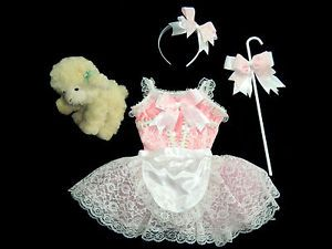 Little Bo Peep Costume Toddler Girls Dress Dance Leotard Halloween Pageant Pink