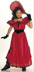 Red Southern Belle Georgia Dress Up Girls Costume