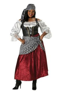 Pirate Wench Elite Collection Womens Plus Costume XXXL Petticoat Vest Halloween