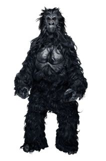 Hairy Gorilla Mascot Adult Mens Costume Monkey Ape Animal Jungle Party Halloween