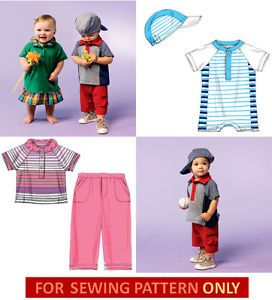 Sewing Pattern Make Baby Boy Girl Clothes Infant Size Newborn XLarge Clothes