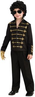 Child Medium Boys Black Michael Jackson Military Jacket Costume Michael Jackso