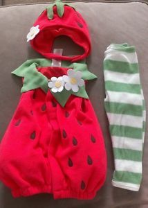Old Navy Baby Girl Strawberry Halloween Costume 6 12 Months
