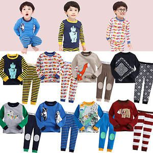 "2pcs Vaenait Baby Toddler Kid's Boys Clothes Sleepwear Pajama""Must Have 8"""
