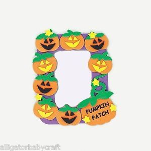 Pumpkin Patch Halloween Magnetic Frame Craft Kit ABCraft Kids Photo Costumes