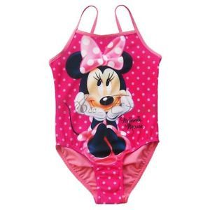 Girl Baby Polka Dots Minnie Mouse Swimsuit Swimwear Swimming Costume 2T 3T 4T