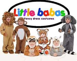 Children's Boys Girls Baby Infant Animal Jungle Fancy Dress Halloween Costumes