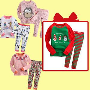 "★free Christmas Gift★vaenait Baby Kid Girl Clothes Sleepwear Pajama Set""Gift 17"""