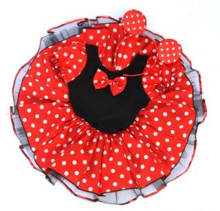 Black Red Halloween Christmas Toddlers Kids Girl Pary Costume Ballet Tutu Dress