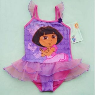 Girls Dora 2 8Y Swimsuit Swimwear Swimming Swimming Costume Suit Tankini Bikini