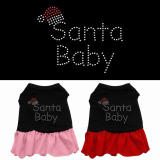 Dog Pet Puppy Christmas Xmas Santa Baby Dress Apparel Skirt Costume Clothes