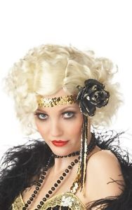Hot Sexy 1920's Jazz Baby Halloween Costume Wig Blonde 70255