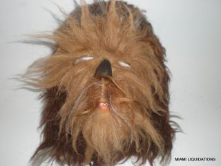 Star Wars Chewbacca Dlx Full Head Mask Adult Chewie Hairy Halloween Costume