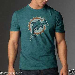 New Authentic 47 Brand NFL Miami Dolphins Vintage Style Scrum Mens T Shirt