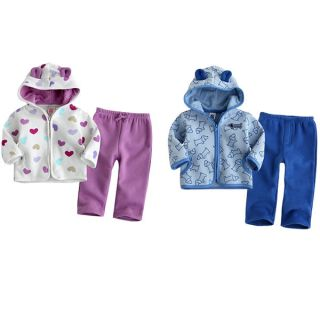 2pcs Baby Boys Girls Toddler Infant Warm Coat Top Pants Trousers Clothes 30