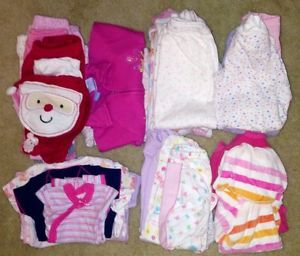 Infant Baby Girl Clothes Lot Size Newborn 0 3 Months Spring 30 Pcs Carters