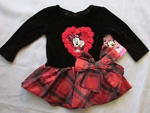 Infant Baby Girls Clothing 9 Months Disney Minnie Mouse Holiday Dress Cute