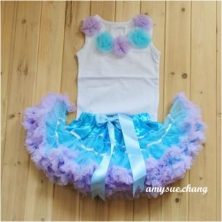 2pcs New Baby Girl Kid Top Tutu Pageant Party Formal Dress Skirt Costume Outfit