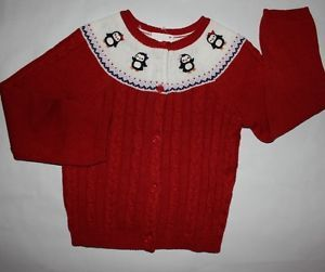 Gymboree Winter Penguin Red Penguin Yoked Cable Sweater Choose Your Size