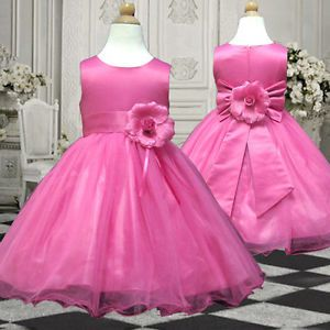 D58 Hot Pink Flower Girls Dress Wedding Pageant Baby 1 2yrs