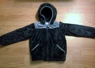 North Face Oso Denali Fleece Hoodie Jacket Gray Baby Girls Boys 18 24 M Months