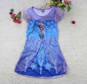 Disney Movie Frozen Princess Elsa Child Girl Fancy Dress Costume Skirt Cosplay