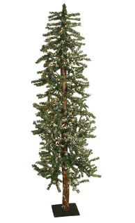 6' Pre Lit Flocked Alpine Artificial Christmas Tree CLR
